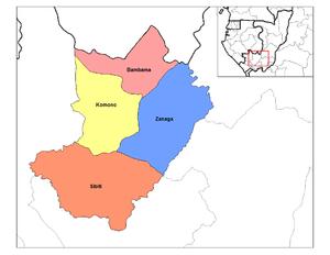 Lékoumou Department - Districts of Lékoumou