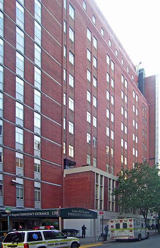Lenox Hill Hospital - East 77th Street entrance to hospital