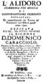 Leo - Alidoro - titlepage of the libretto - Naples 1740.png