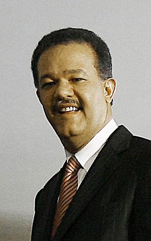 Português: O presidente da República Dominican...