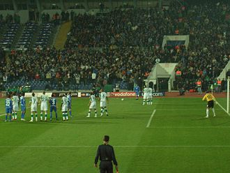PFC Levski Sofia - Levski against Werder Bremen at the National Stadium in the Champions League