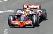 The race was won by Lewis Hamilton for McLaren.