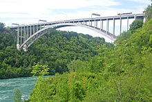 Lewiston-Queenston Bridge from Niagara Gorge.jpg