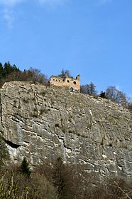 Burg Lichtenstein über dem Abgrund