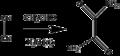 Liebig oxamid synthese erste organokat Reaktion.png