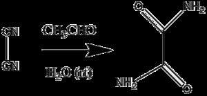 Organocatalysis - Image: Liebig oxamid synthese erste organokat Reaktion