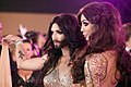 Life Ball 2013 - magenta carpet Yasmine Petty Conchita Wurst.jpg