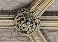 Lincoln Cathedral, Angel Choir N aisle, 13th Roof Boss from E (39580692632).jpg