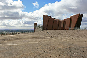 Broken Hill - Miner's Memorial at the Line of Lode mine, commemorating over 800 workers who lost their lives working the mine