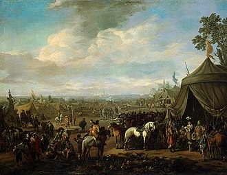 Johannes Lingelbach - Flemish Town Sieged by the Spanish Soldiers, c. 1674.