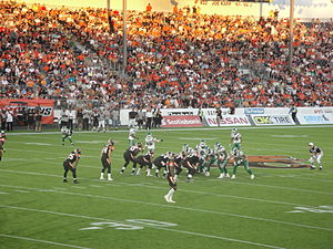 Empire Field - The Lions playing the Saskatchewan Roughriders in the field's first regular season game, on July 10, 2010