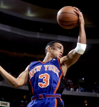 John Starks (basketball) - Starks in 1996 with the New York Knicks