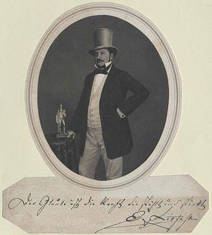 Ernst Litfaß - Ernst Litfaß in 1855