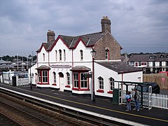 Station building at Llanfairpwll station