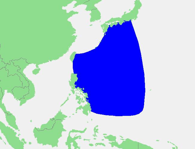 Locatie Filipijnenzee