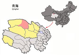Da Qaidam - Image: Location of Da Qaidam within Qinghai (China)