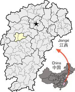 Location of Xinyu within Jiangxi.png
