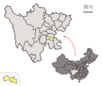 Location of Zigong Prefecture within Sichuan (China).png
