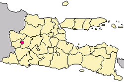 Location of Madiun in Indonesia