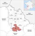 Locator map of Kanton Civray 2019.png