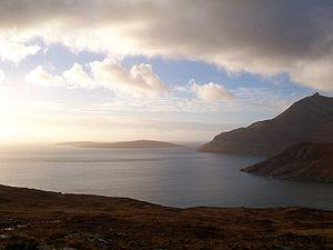 Loch Scavaig and Gars Bheinn, Isle of Skye. Ta...