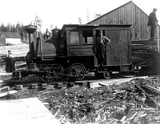 Yakutat, Alaska - Locomotive of the Yakutat and Southern Railway Co. in Yakutat, September 1, 1907
