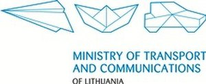 Ministry of Transport and Communications (Lithuania) - Image: Logo EN2