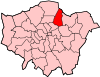Location of the London Borough of Waltham Forest in Greater London