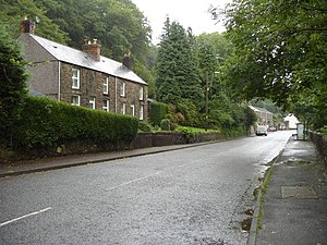 Looking along the B4242 at Resolven - geograph.org.uk - 1368207.jpg