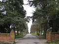 Looking down the drive, Wroxall Abbey - geograph.org.uk - 1775907.jpg