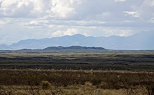 Jornada del Muerto Volcano - Image: Looking north towards the Jornada del Muerto Volcano