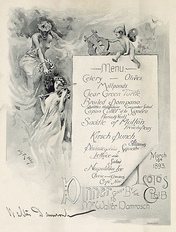 Scan of a prix fixe menu from Lotos Club, New ...