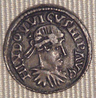 Carolingian Empire - Image: Louis le Pieu denier Sens 818 823