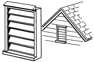 Louver - Type of louver in concept