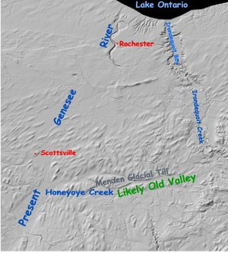 Glacial geology of the Genesee River - Image: Lowergenesee 1