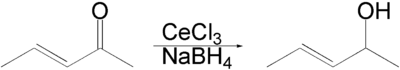 Luche reduction of an enone