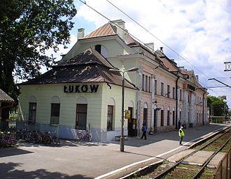 Łuków - Railroad station in Łuków