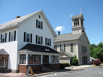 Lunenburg, Massachusetts - Lunenburg Town Hall and Hadwen Park Market