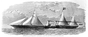 Second Opium War - The Illustrated London News print of the clipper steamship Ly-ee-moon, built for the opium trade, c. 1859