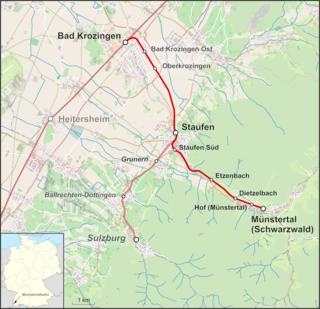 Bad Krozingen–Münstertal railway railway line