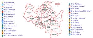 Městské části Brna a jejich znaky