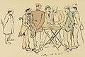 M. Landau, (tire les cartes) M. Darracq, James Hennessy,(à gauche) M. Poulet, le comte de Ganay (à droite), M. Aschwanden, s'approche du groupe (Le Grand Monde à l'Envers - Caltez, v'là la rousse!).jpg