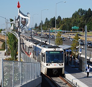 MAX Green Line - The Green Line's I-205 section is served only by this line (unlike the I-84 and downtown segments). Most service uses older (pre-2005) rail cars, as they make up 83% of the fleet.