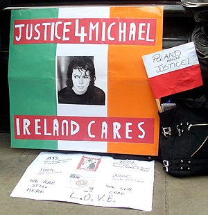 English: Justice for Michael Jackson demonstra...