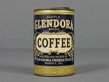 Lata de café de la primera mitad del siglo 20. De la colección del Museo del Objeto del Objeto.