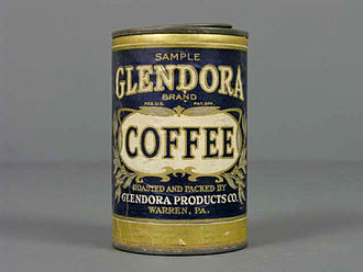 Museo del Objeto del Objeto - Glendora coffee can, first half of the 20th century.