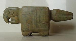 Valdivia culture - Mortar, Parrot Valdivia, South Coast (4000 a 1500 BC)
