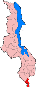 Location of Nsanje District in Malawi