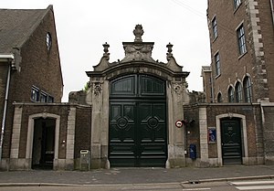 Maastricht University - Gate of former Jesuiet monastery. Lectures started here in 1974