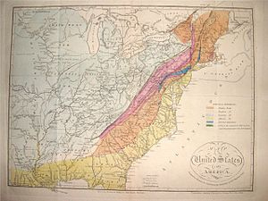 Geologic map of Georgia (U.S. state) - Maclure's Geological Map of the United States as published in 1817